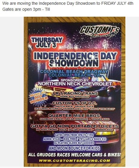 July 3 at the Dragstrip