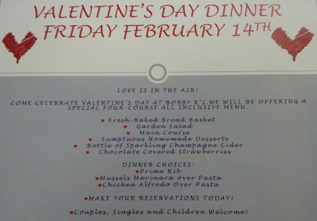 Valentine's Day at Bobby K's