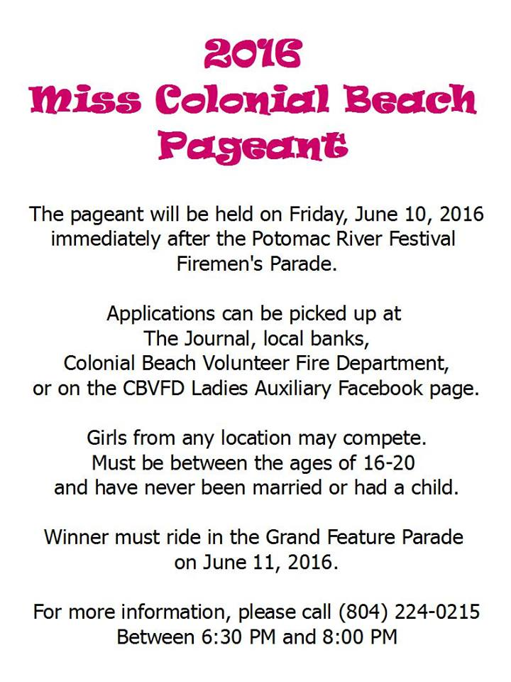 pageant flyer