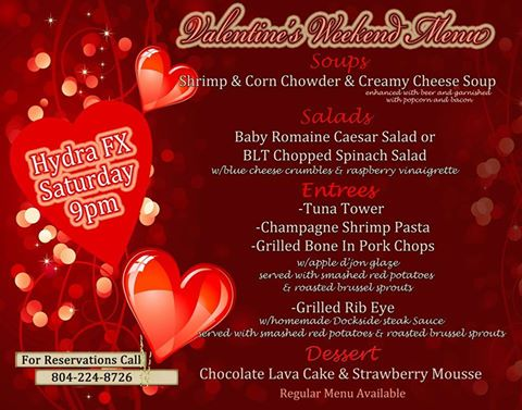 Dockside Valentines Day Specials