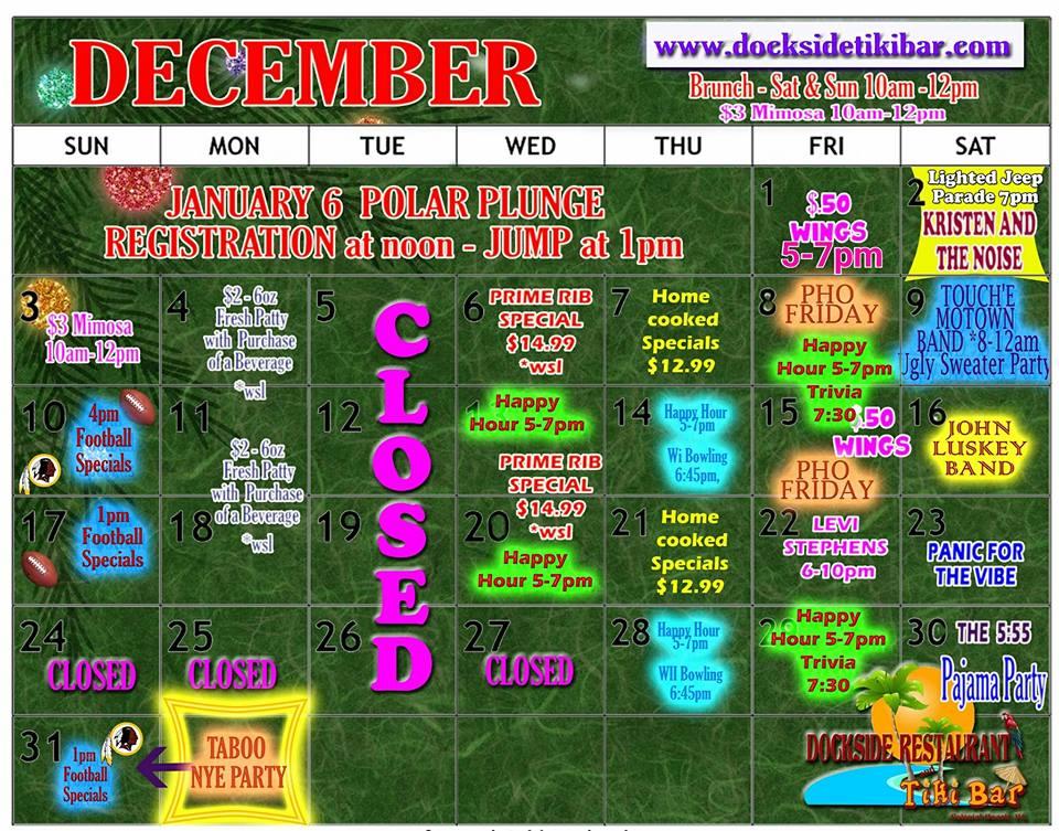 Dockside December Calendar