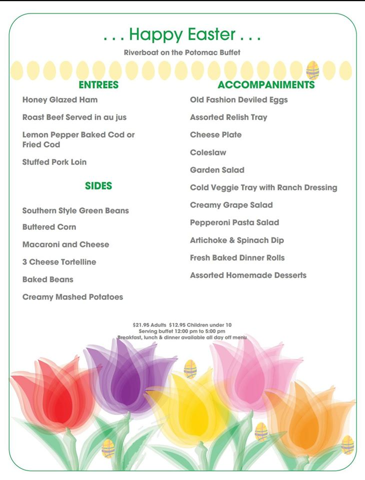 2017 Riverboat Easter Menu