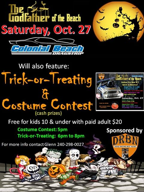 Dragstrip trick or treat flyer
