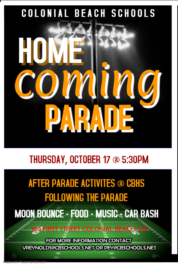2019 Homecoming Parade flyer