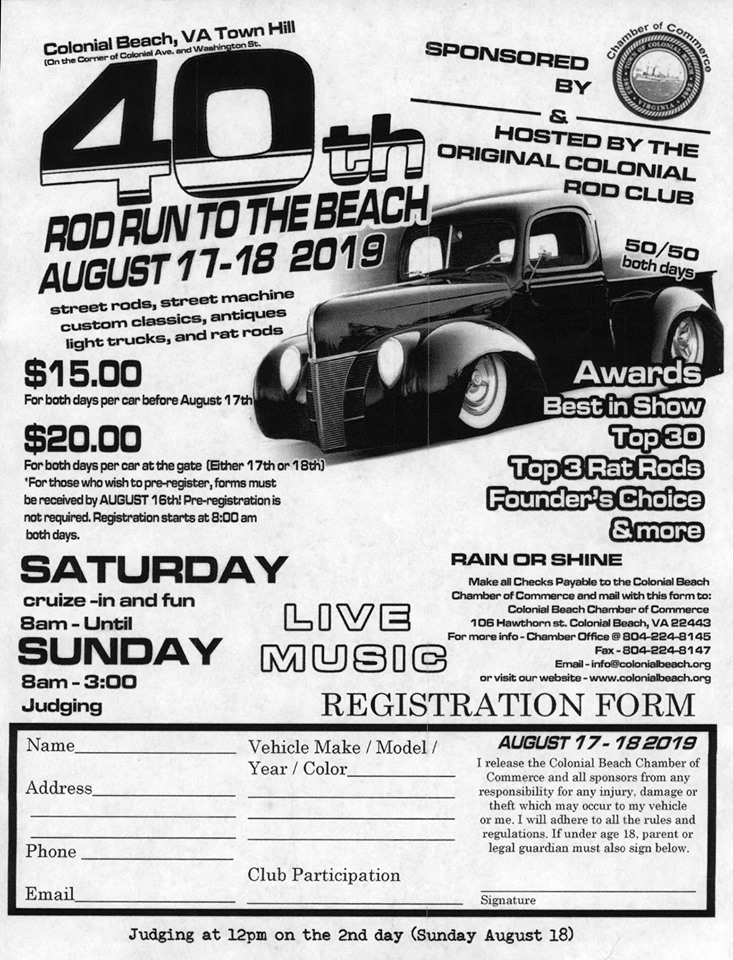 rod run event flyer