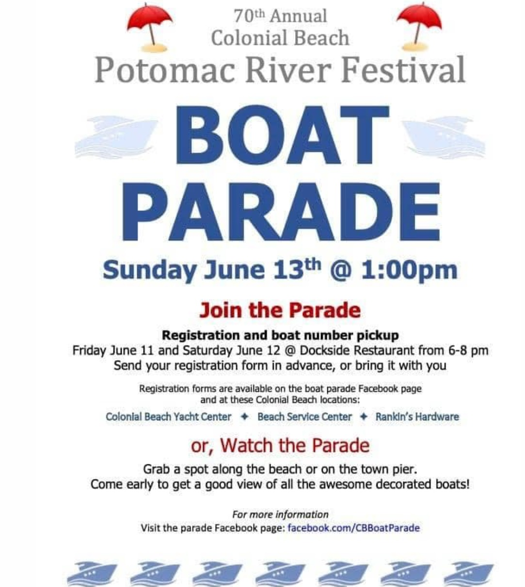 Boat parade flyer for 2021