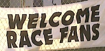 Welcome Race Fans banner