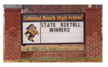 Basketball Winners sign