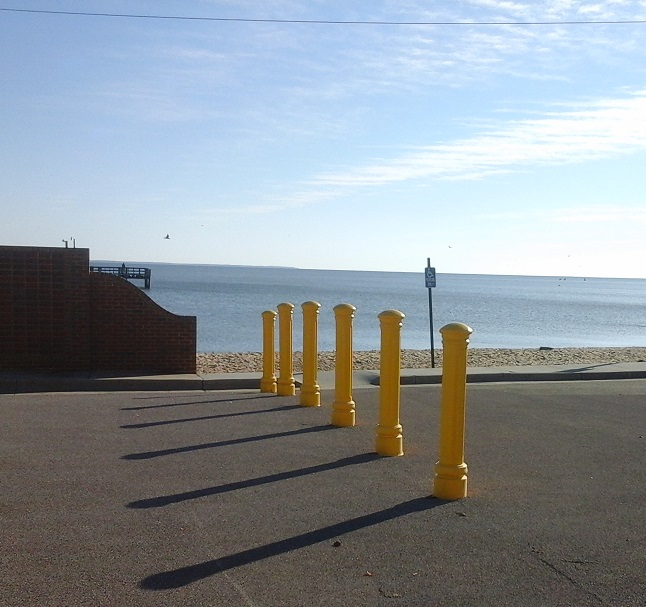 Posts next to Pier entrance