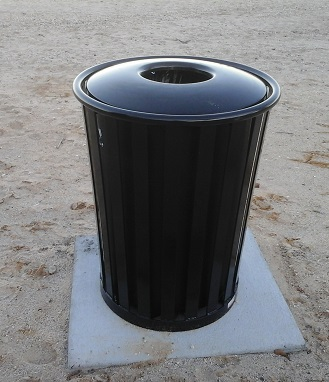 New Boardwalk Wastebaskets