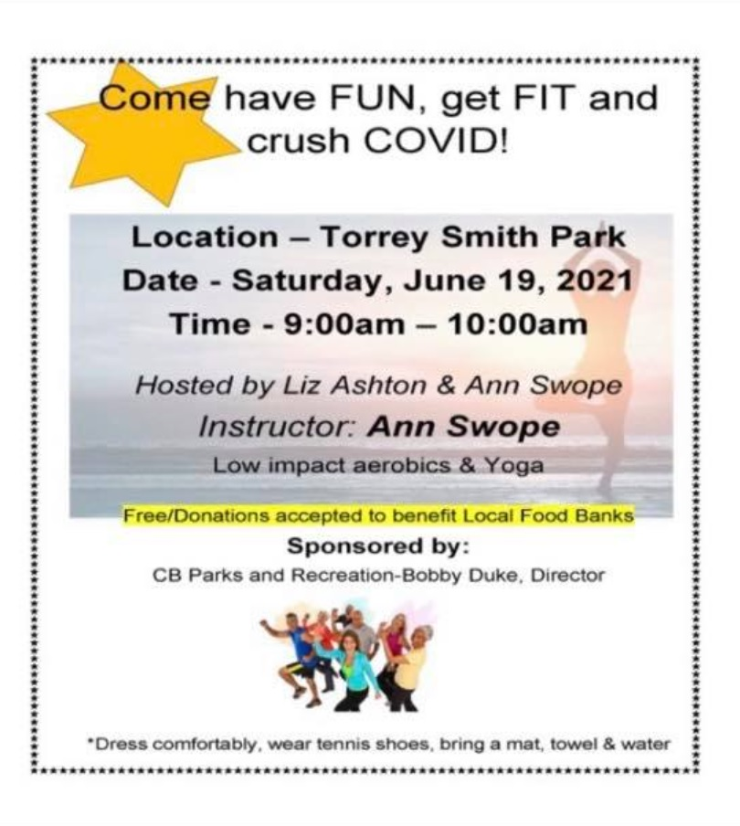 Fitness event at Torrey Smith Park.