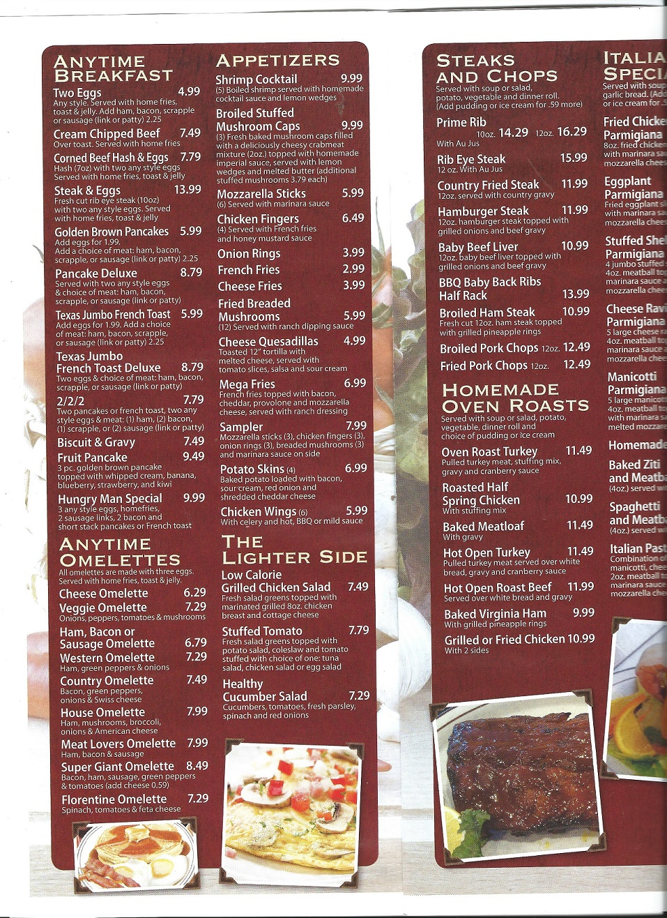 Four Seasons Menu page 3