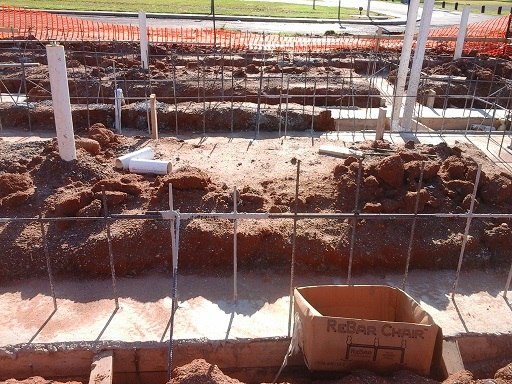 Bathhouse foundation construction June 17