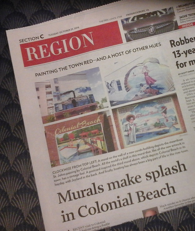 Beach Mural newspaper article