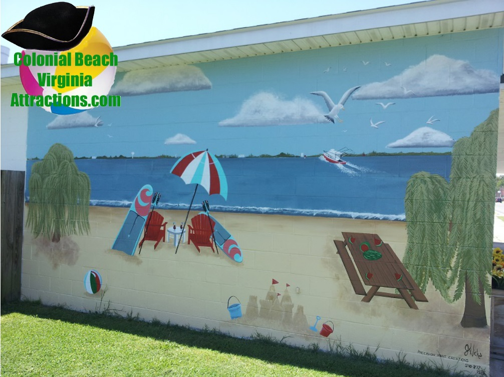 Beach Mural at Pearson's Seafood