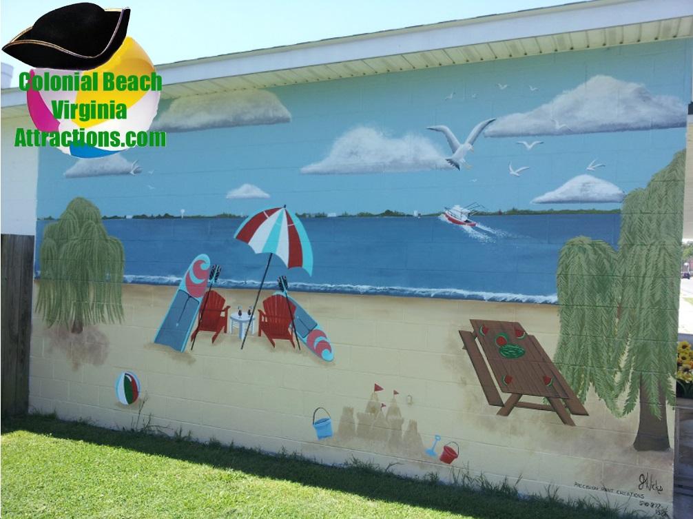 Beach Mural at Pearson's Seafood