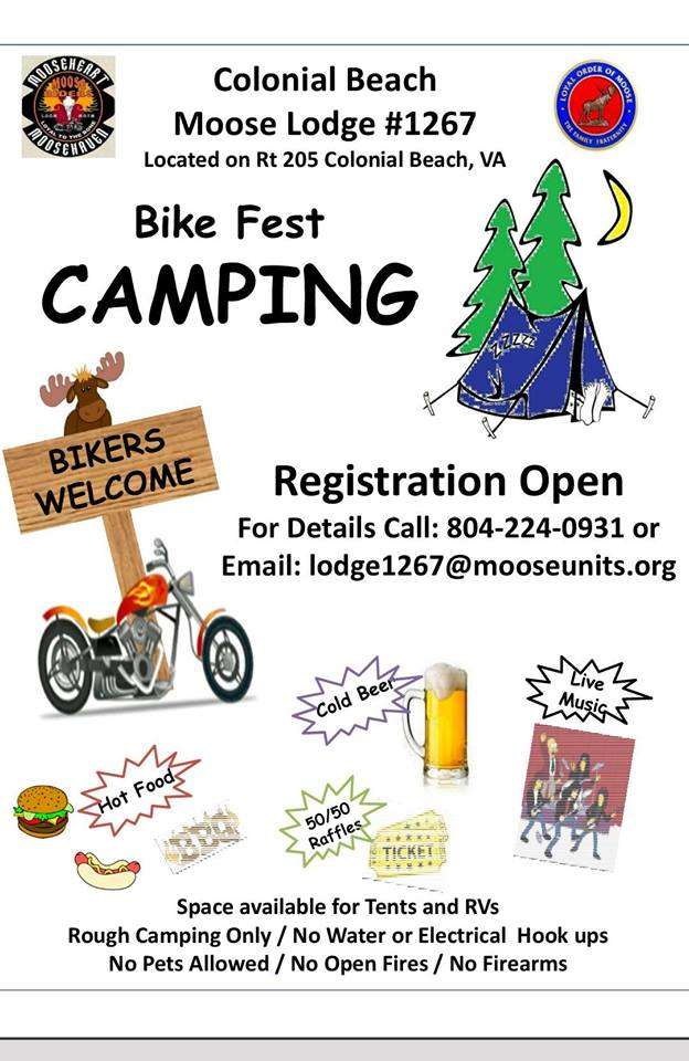 Moose Lodge Camping flyer