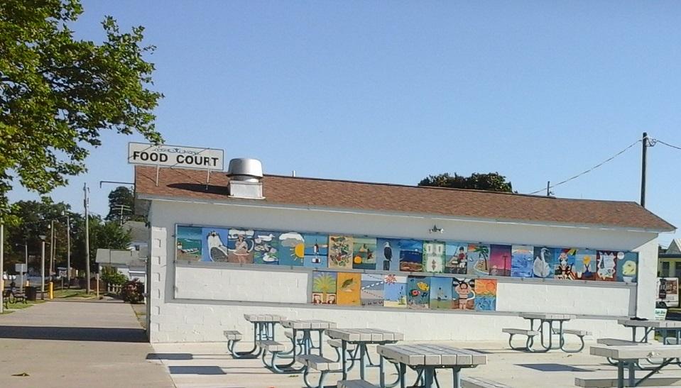 Art Panels on Food Court building