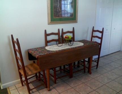 Table in the kitchen area at The Bonus Room