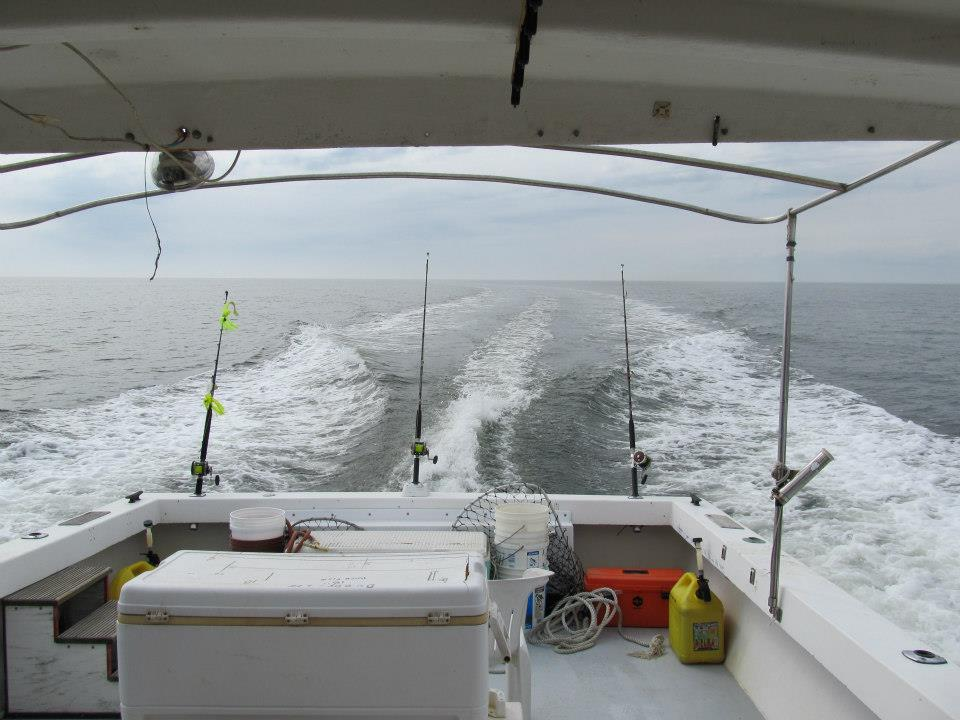 View off charter fishing boat