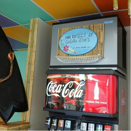 Cocomo Joe's drink station