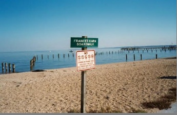 Frances Karn memorial Boardwalk in Colonial Beach