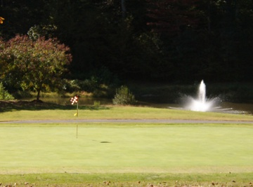 Fountain at Cameron Hills Golf near Colonial Beach