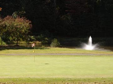 Fountain at Cameron Hills Golf near Colonial Beach