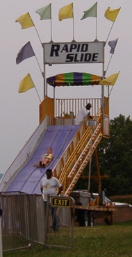 Carnival slide and rides