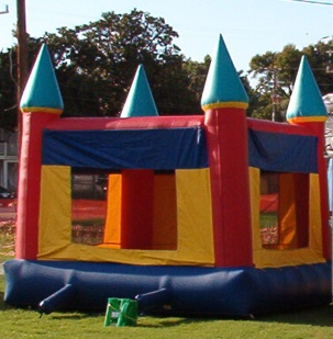 Kids love the bouncy castle