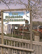 dockside restaurant sign