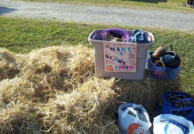 The Make A Scarecrow booth
