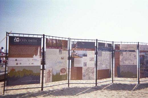 boards detailing John Smith journey