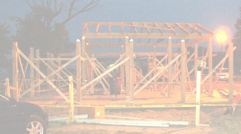 Tiki Bar construction