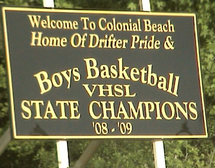 Drifters State Champs sign