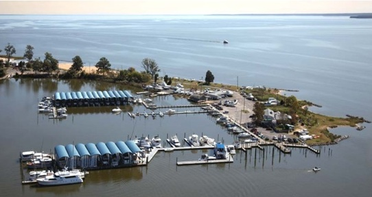 Colonial Beach Yacht Center Aerial View