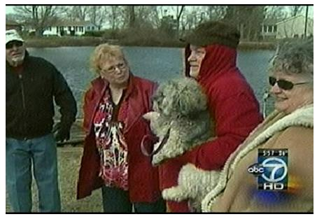 Ebb Tide Beach resident rescues dog