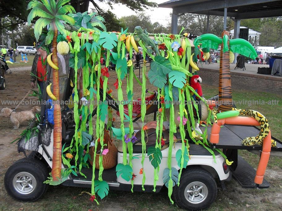 Save the Rainforest Golf Cart