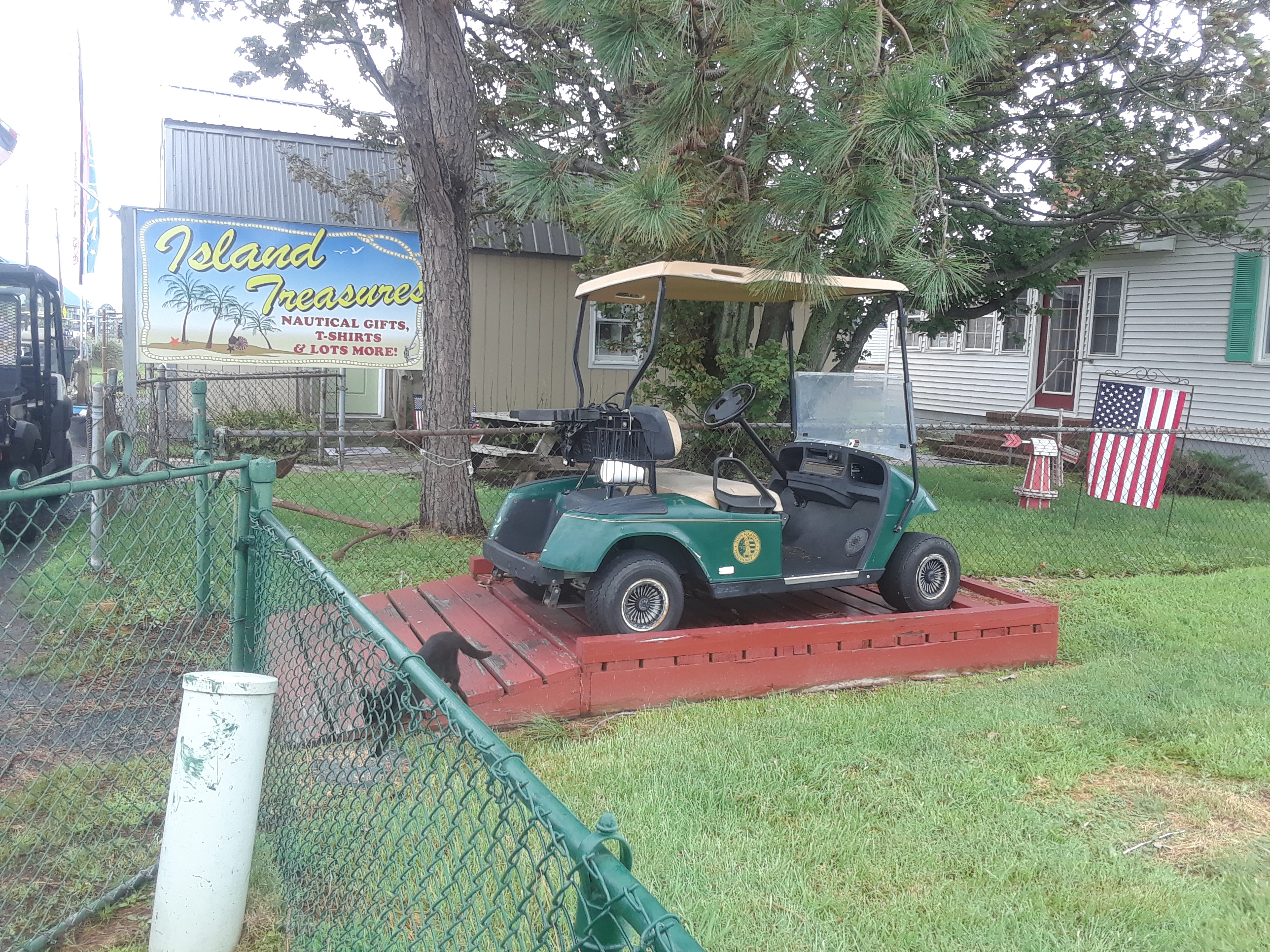 Golf cart ramp at house on Tangier