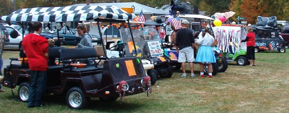 Halloween Golf Cart Parade Entrants