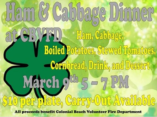 Ham and Cabbage Dinner flyer