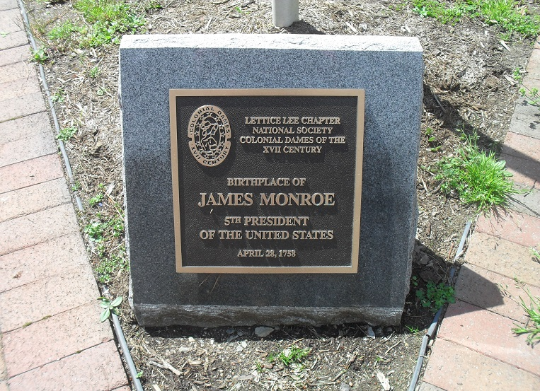 James Monroe Plaque at Visitor Center