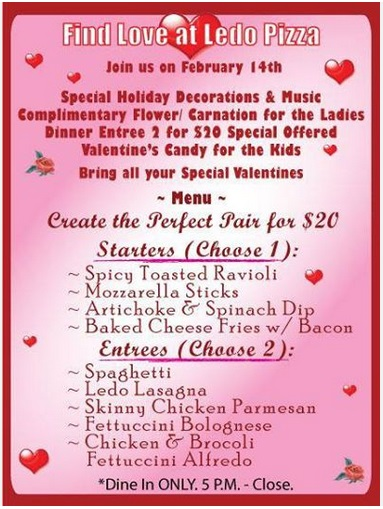 Valentine's Day at Ledo Pizza & Pasta