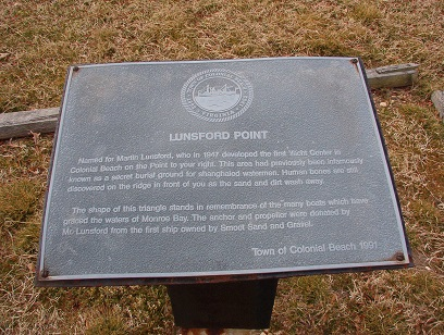 Lunsford Point Marker