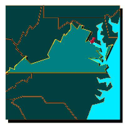 Map Of Virginia Showing Colonial Beach
