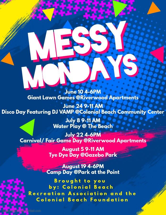 Messy Mondays Flyer