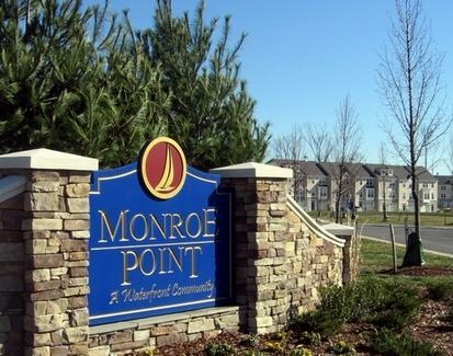 Entrance to Monroe Point Townhomes