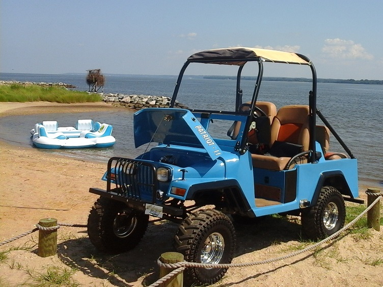Jeep Golf Cart on the beach