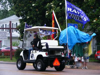 Baltimore Ravens Golf Cart float