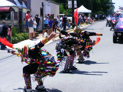 I don't know how these guys dance in those heavy costumes.